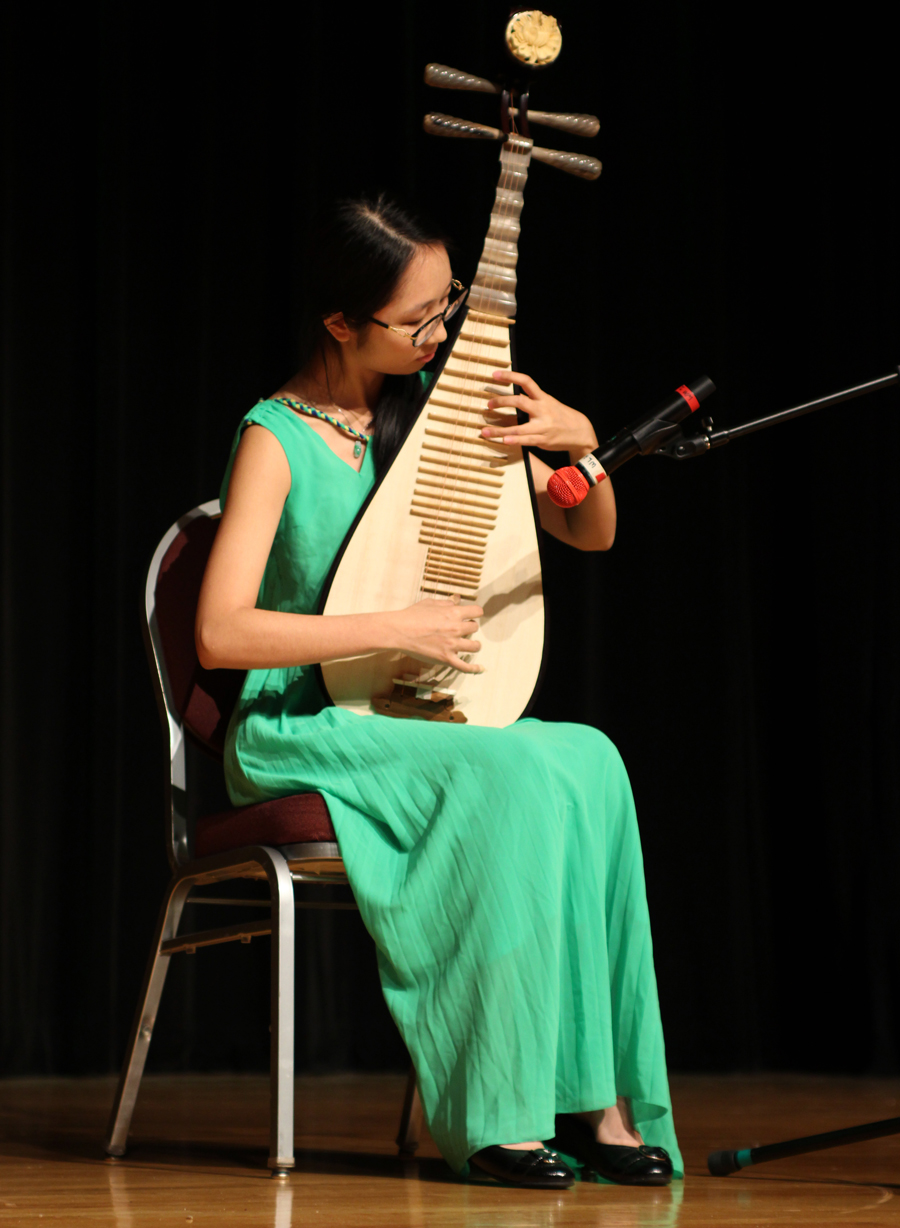 A performer at the Chinese Undergraduate Student Association New Year celebration.