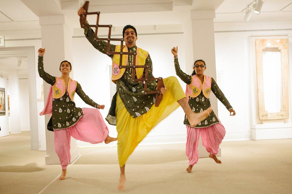 UNC Bhangra Elite performs at an Ackland Art Museum opening in 2013. Courtesy the Ackland.