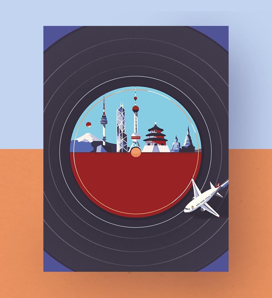 Super Sonic Asia, Editorial Cover Illustration