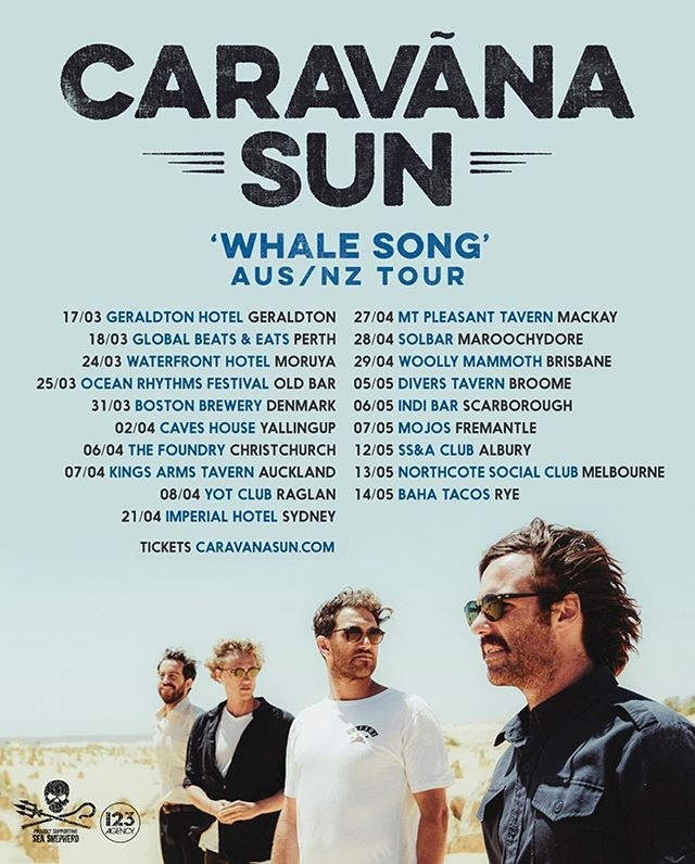 "We're excited to partner up with @caravanasun for their upcoming ""Whale Song"" nationwide tour!  Tickets are available now from caravanasun.com  Visit our volunteers at the shows to have a chat about our current campaigns, purchase official Sea Shepherd merchandise or make a donation!  #musicfortheoceans #onboardwithseashepherd #seashepherd #rocktheoceans"