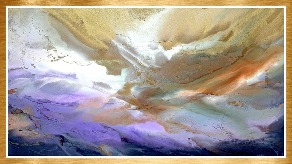 Golden metallic by alexis bonavitacola | alcohol ink painting
