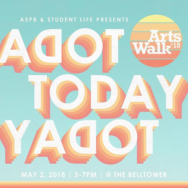Arts Walk is TODAY at the BellTower from 5-7pm!! Enjoy student art work, performances, free succulents,  instax photobooth, and much more!! 🌵🎨💃