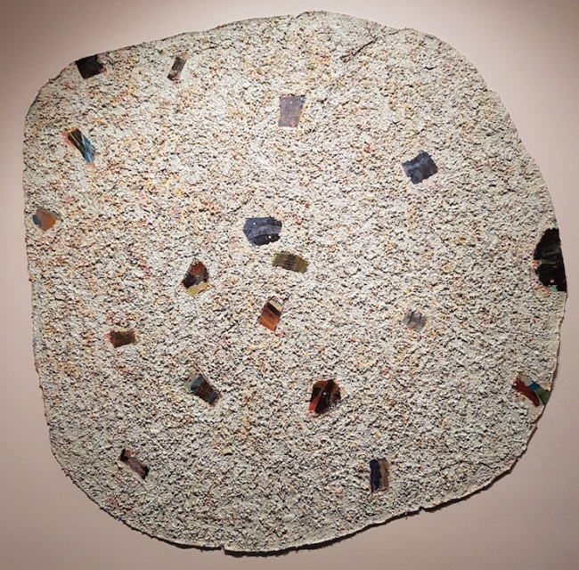 Howardena Pindell:Autobiography: Japan (Shisen-dō, Kyoto), 1982,Mixed media on canvas 70 1/2 x 70 1/2 inches