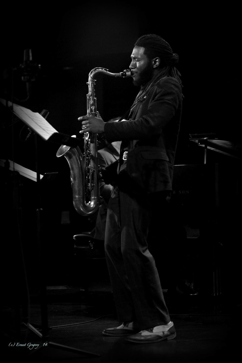 Stephen J Gladney - Tenor Saxophone and EWI (Electronic Wind Instrument) Photo Courtesy of Ernest Gregory