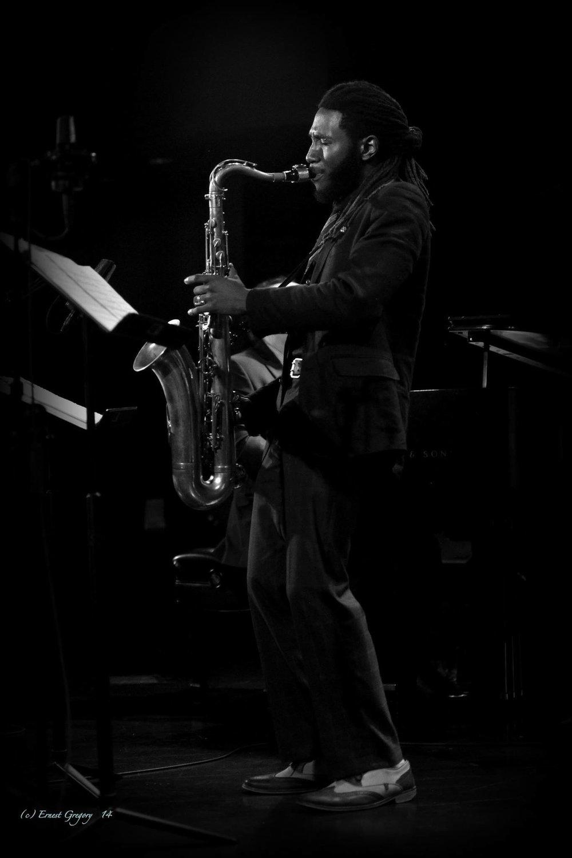 Stephen J Gladney - Tenor Saxophone and EWI (Electronic Wind Instrument) Photo Courtesy of Ernest Gregory