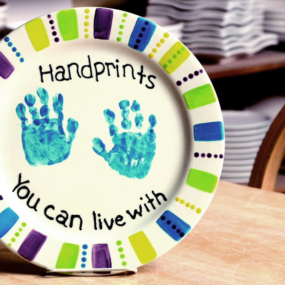 Make your own commemorative plates as gifts or memories