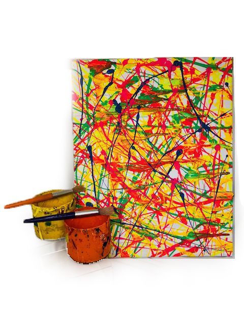 Splatter Parties   - Ages: 6+You don't want to try this at home!!  We'll outfit your party crew in protective gear and let them throw paint!  Each guest gets their own 9 X 12 ready-to-display rigid canvas to take home with them the day of the party.Cost: $22 per person