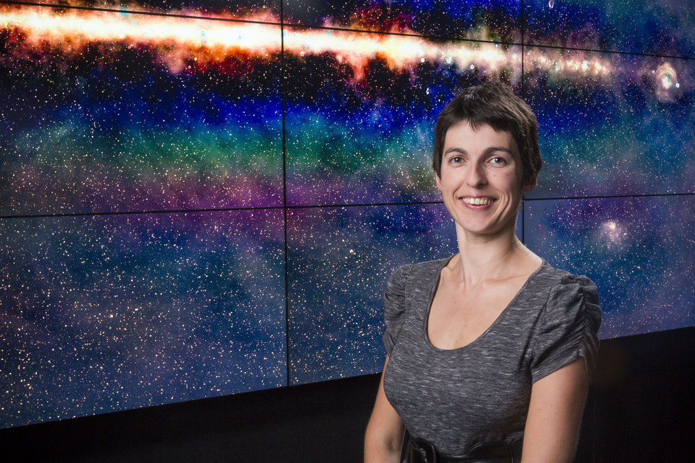 - An astronomer who uses radio waves to explore the distant reaches of the Universe. Her latest achievement uses a telescope in outback Western Australia to survey the whole sky, which provides a cornucopia of data on exploded stars, super-massive black holes, and our local space environment.