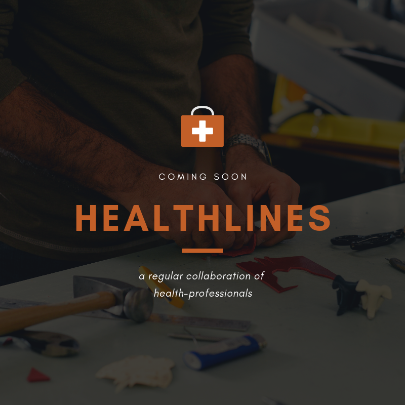 COMING SOON! - Healthlines: a quarterly gathering of health professionals to collaborate on the intersection of mental and physical health. Interested in joining us? Sign up to learn more here.