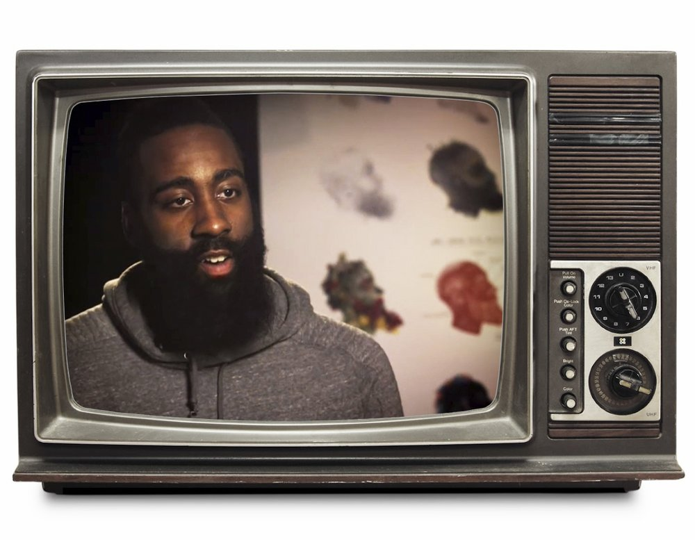 James Harden and James Harden Illustrated as appeared in an interview on TNT.