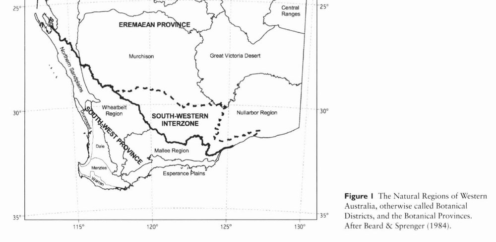 The Southwest Province, as defined by Beard, Chapman & Gioia (Figure 1, page 1258 … see below for full reference details)