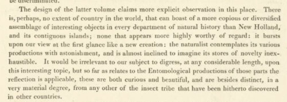 Donovan, 1805 - third paragraph of the Advertisement