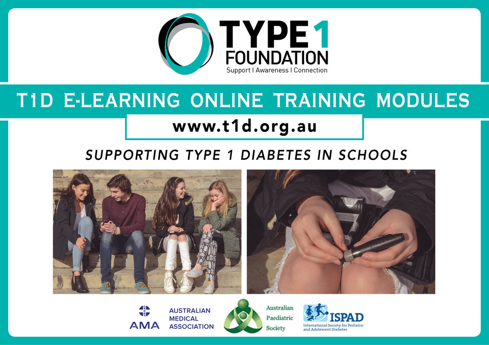 The Type1 Foundation Proudly fully funded the development of the T1D e-learning online training modules for schools.