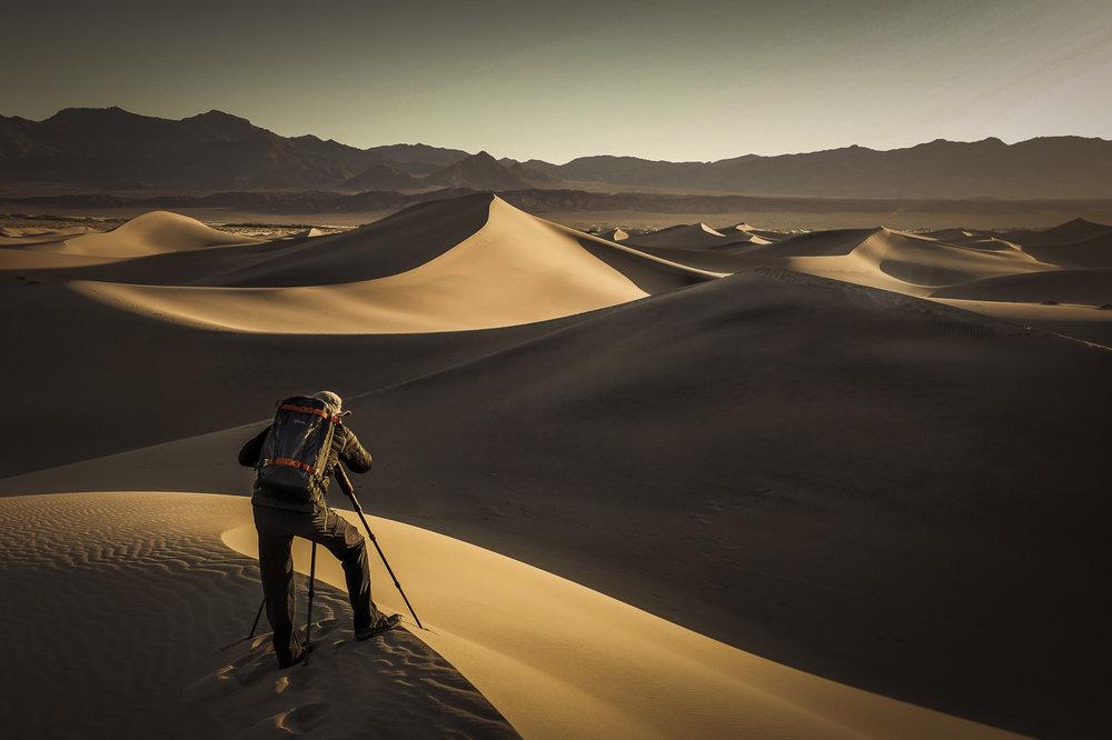 Wüsten faszinieren mich, hier ein Sonnenaufgang im Death Valley