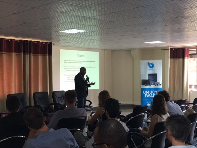 Morris Kayitare, Director of Primary and Social Energies Development at EDCL-REG, outlined Rwanda's Rural Electrification Strategy and the role of off-grid solar solutions.