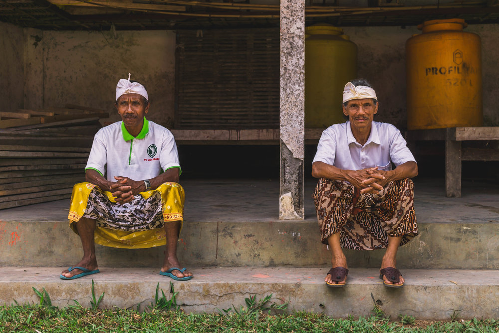 Balinese men, Indonesia