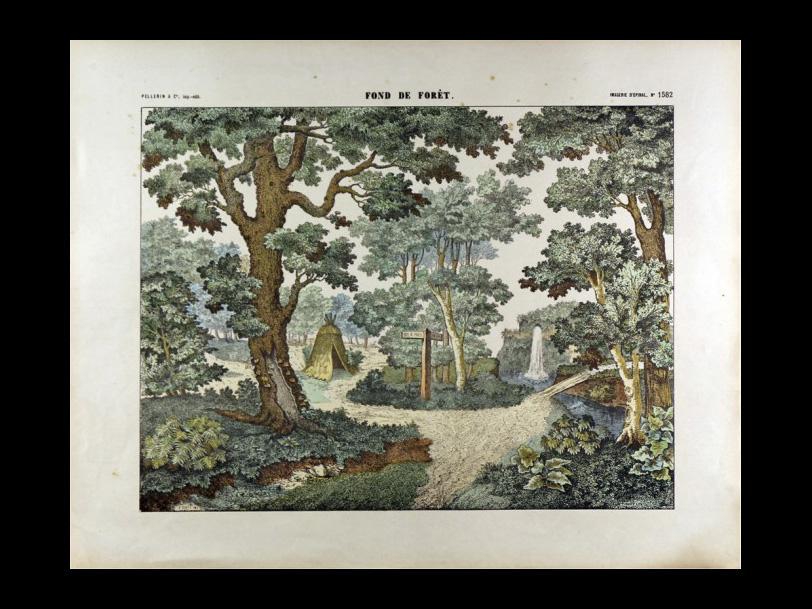 Image d'Épinal® FOND DE FÔRET n°1582 réalisée vers 1880
