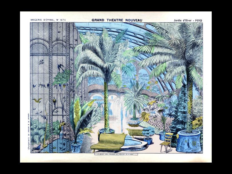Image d'Épinal® LE JARDIN D'HIVER n°1674 réalisée vers 1880