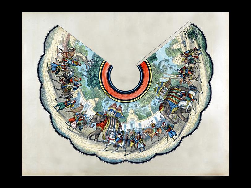 Image d'Épinal® ELEPHANTS – ABAT-JOUR n°752 – réalisée vers 1885
