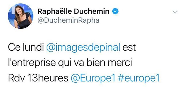 Lundi 11/2 l'imagerie D'Epinal en direct sur Europe1 à 13:00.