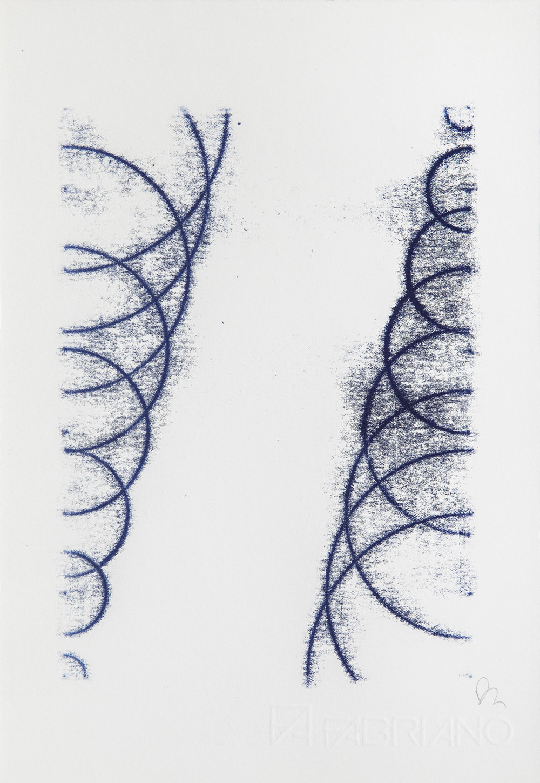 Fiona Grady, Arcs I, 2014, Monoprint, © Fiona Grady, Courtesy of Flowers Gallery London and New York