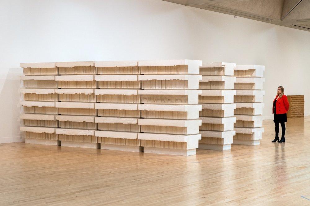 Rachel Whiteread, Untitled (Book Corridors), 1997-8,Installation views at Tate Britain | Photo © Tate, Joe Humphrys -