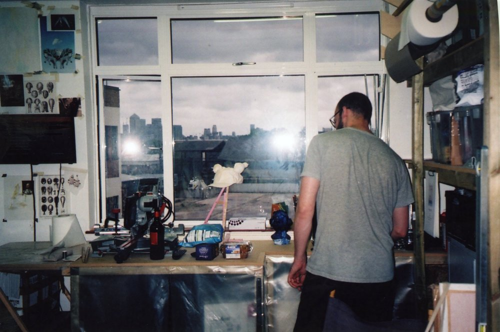 Jean Philipe Dordolo, Studio visit by dateagleart. Photography by Delilah Olson