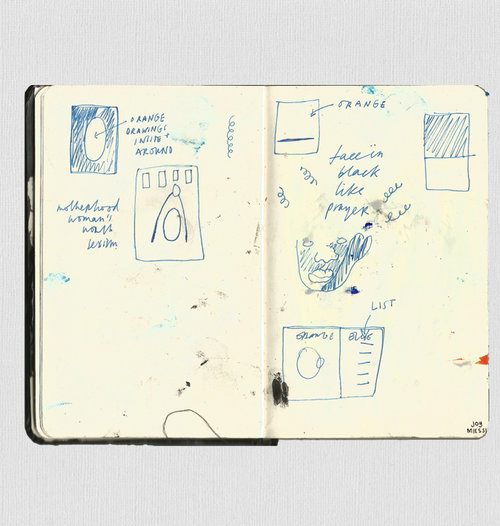 Joy Miessi's sketchbook project for dateagleart's Three Day Residency, 2017. Courtesy of the artist
