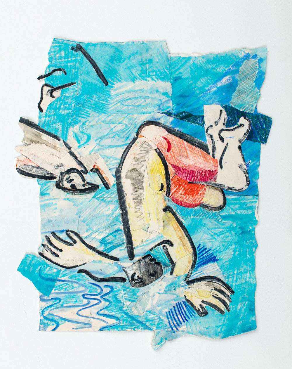 Isaac Nugent, Falling In, 2017   Courtesy of The Royal Drawing School