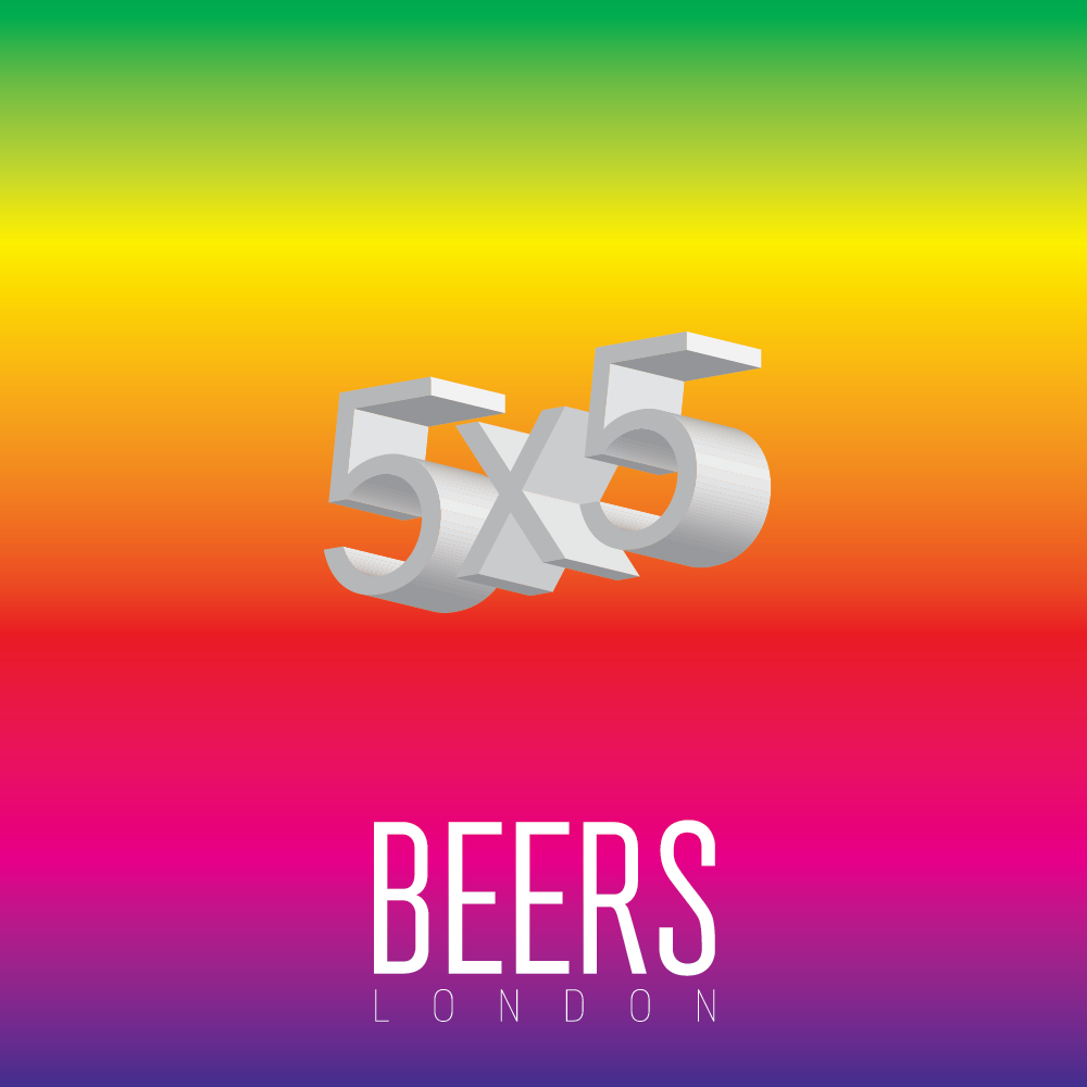 5x5 in collaboration with BEERS, London by dateagleart