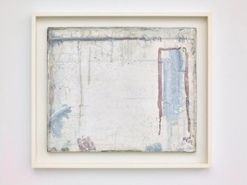 Bram Bogart, Signes sur Blanc / Witte Tekens, 1952 | Bram Bogart: Witte de Witte, 2017 | Courtesy SALON, Saatchi Gallery, and Vigo Gallery -