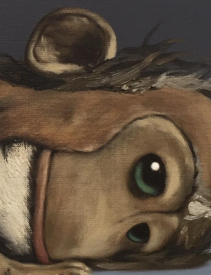 Peter Jones, Matt Monkey, 2016, Oil on canvas © Peter Jones, Courtesy of Collyder Bristow Gallery, London