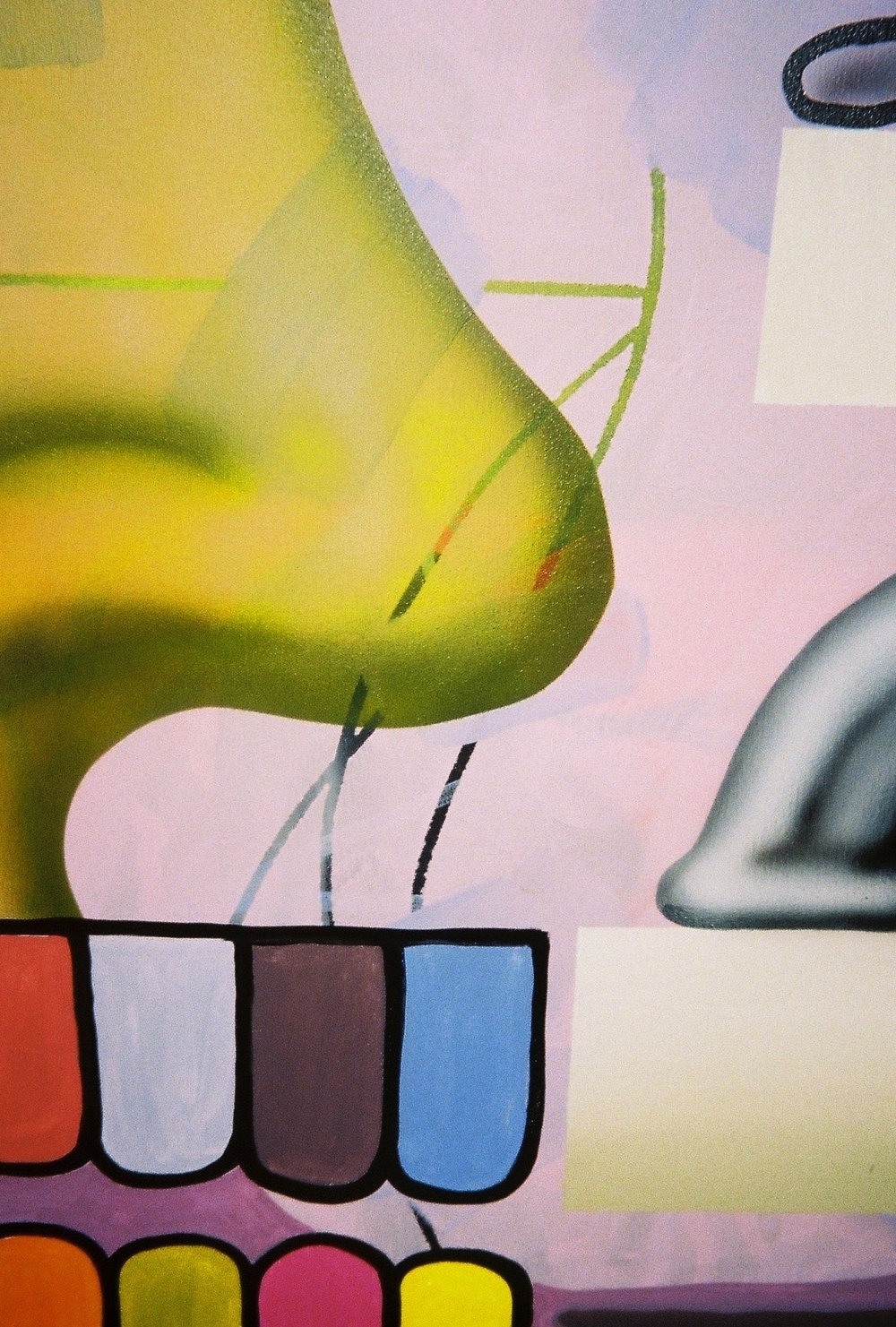 Morgan Wills,Slinky, oil and acrylic on canvas (detail)| Photography by Delilah Olson -