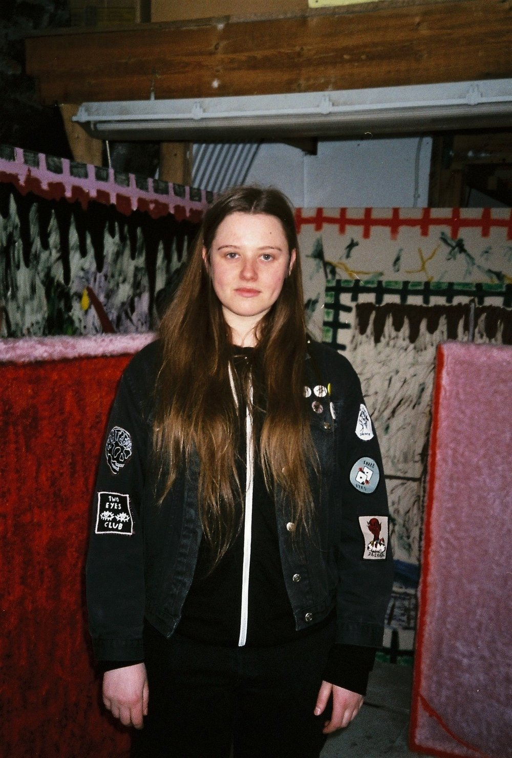 daisy parris, studio visit by dateagleart. photography by delilah olson, copyright dateagleart