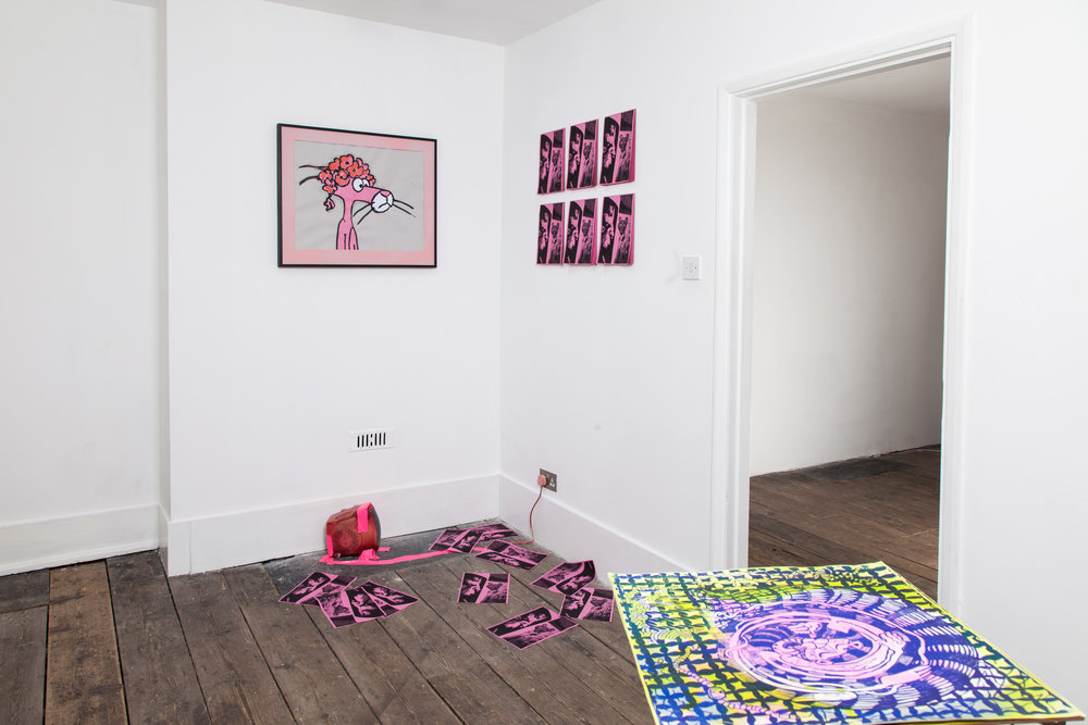 Installation shot of The Pink Panther Show 2018 at Gallery 46. Photograph by Ekphrasis © dateagleart 2018