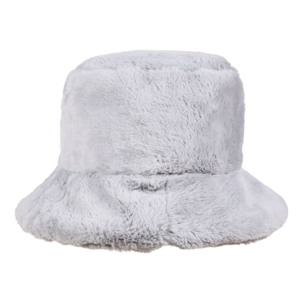fb69dbecf84 Faux Fur Bucket Hat in Grey — My Accessories London