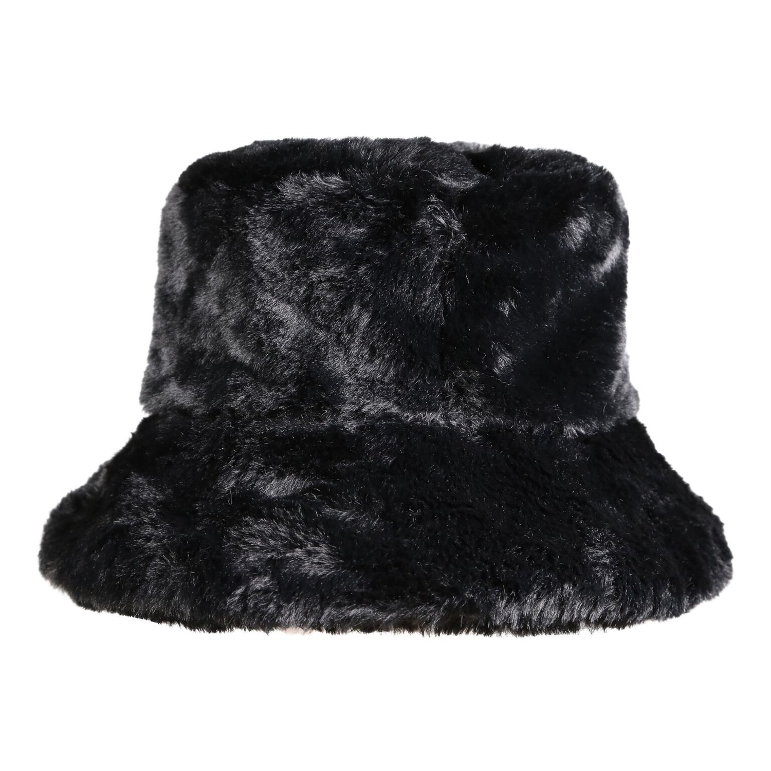 b2117865d447a Faux Fur Bucket Hat in Black — My Accessories London