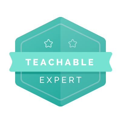 I also have one of these, which is super cool. Thanks, Teachable!  - Am I still starstruck to be partnering with my favorite course creation platform? Maybe.