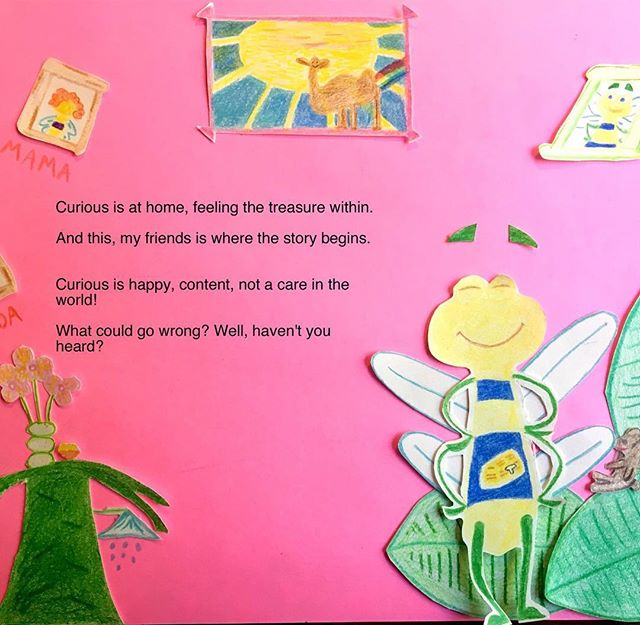 The Curious book is coming! Keep following us for publication details and more sneak peaks! Here are the first two pages...😃 #searchforhappiness #lookwithin #acuriousworld #insideout