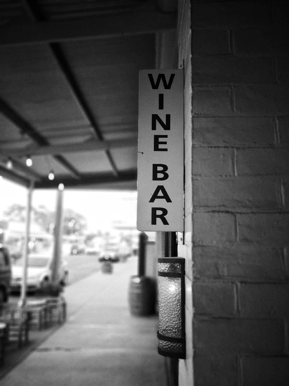 Outside Thousand Pound Wine Bar, Rutherglen