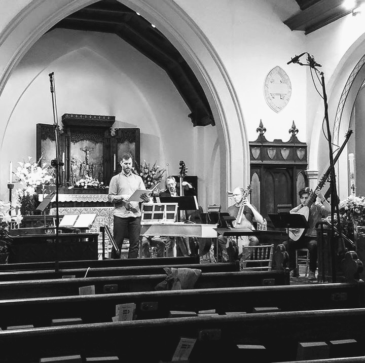 Rehearsing Sances with Third Coast Baroque. April 2017