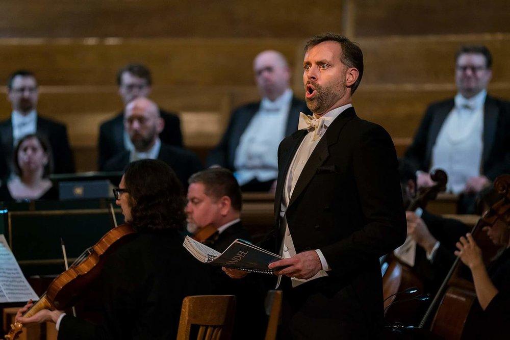 Messiah bass arias with Bach Collegium San Diego. December 2016.