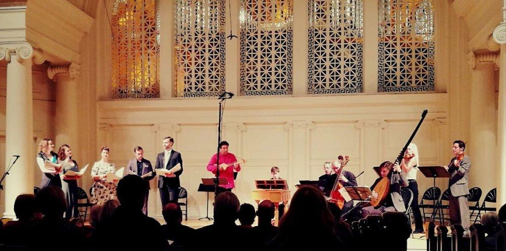 Chicago's Third Coast Baroque at Nichols Concert Hall in Evanston, IL. April 2017