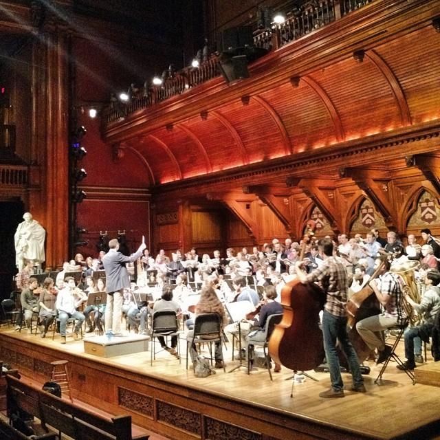 And now I'm here.. Harvard-Radcliffe and Boston Modern Orchestra Project.. #vaughanwilliams #donanobispacem Ed Jones conducting.