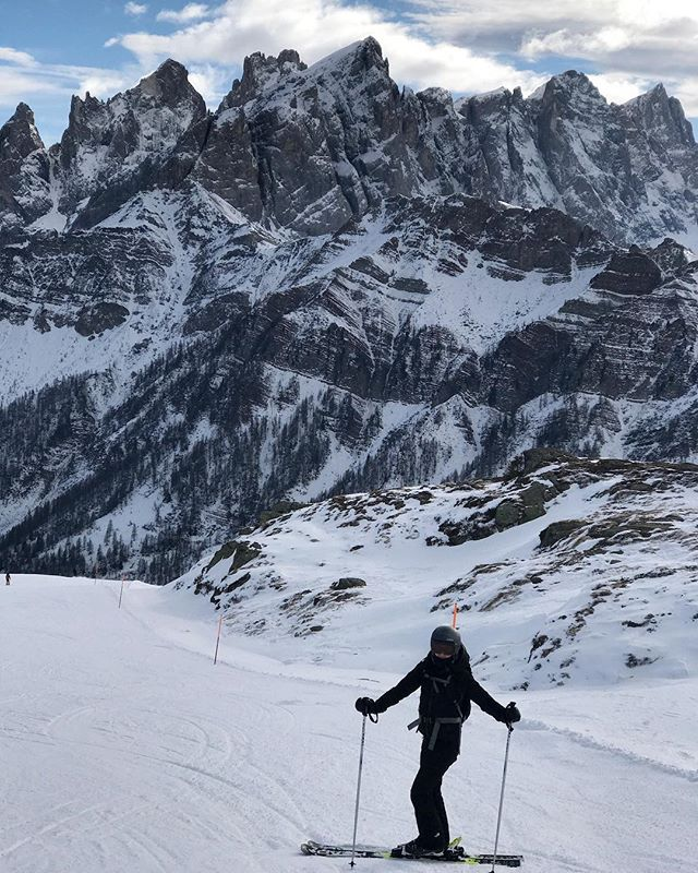 It was tough getting Robyn back to the concrete jungle of NYC after being surrounded by these skyscrapers in the Dolomites for a week; not to mention the cozy lodges and multi-course après-ski meals.
