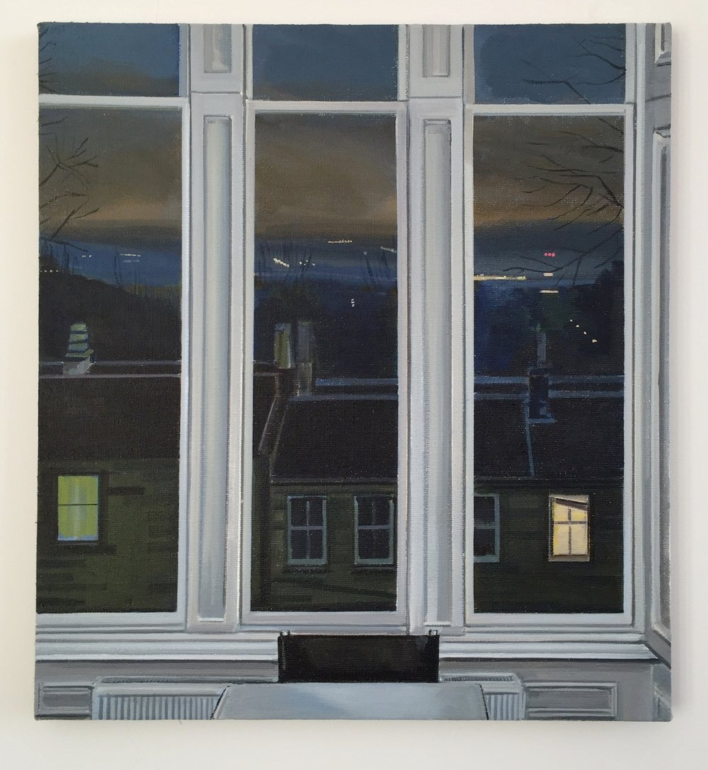 Wilton St. Window 4 , November 2017, 22 x 20 inches, acrylic on linen.
