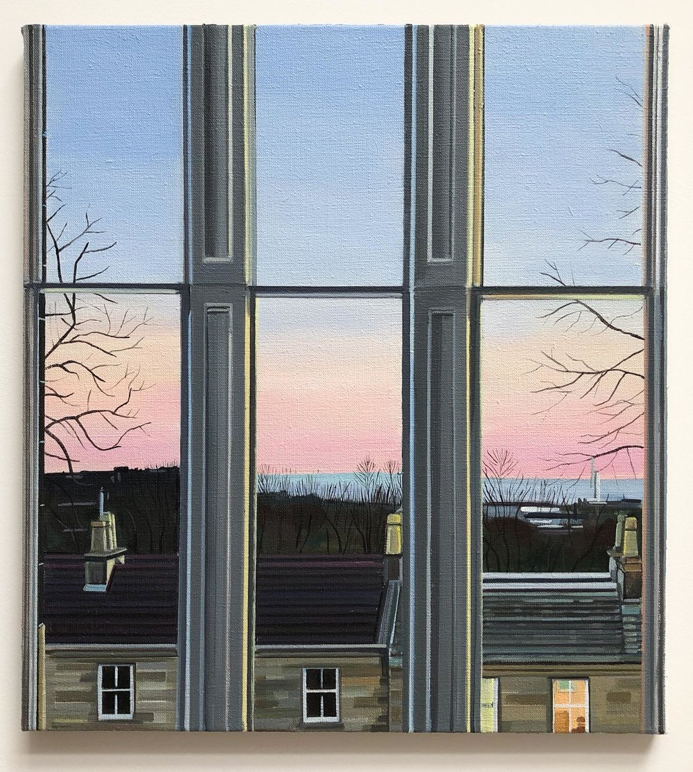 Wilton St. Window 9 , March 2018, 22 x 20 inches, acrylic on linen.