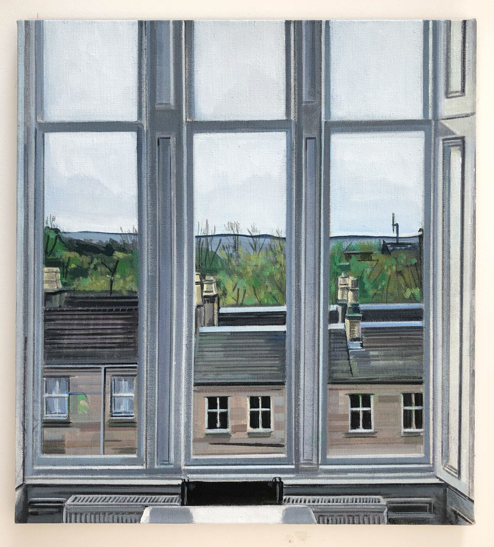 Wilton St. Window 1 , October 2017, 22 x 20 inches, acrylic on linen.