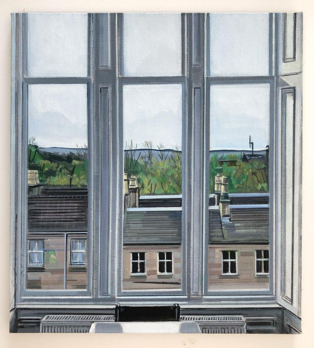 Wilton St. Window 1 , November 2017, 22 x 20 inches, acrylic on linen.