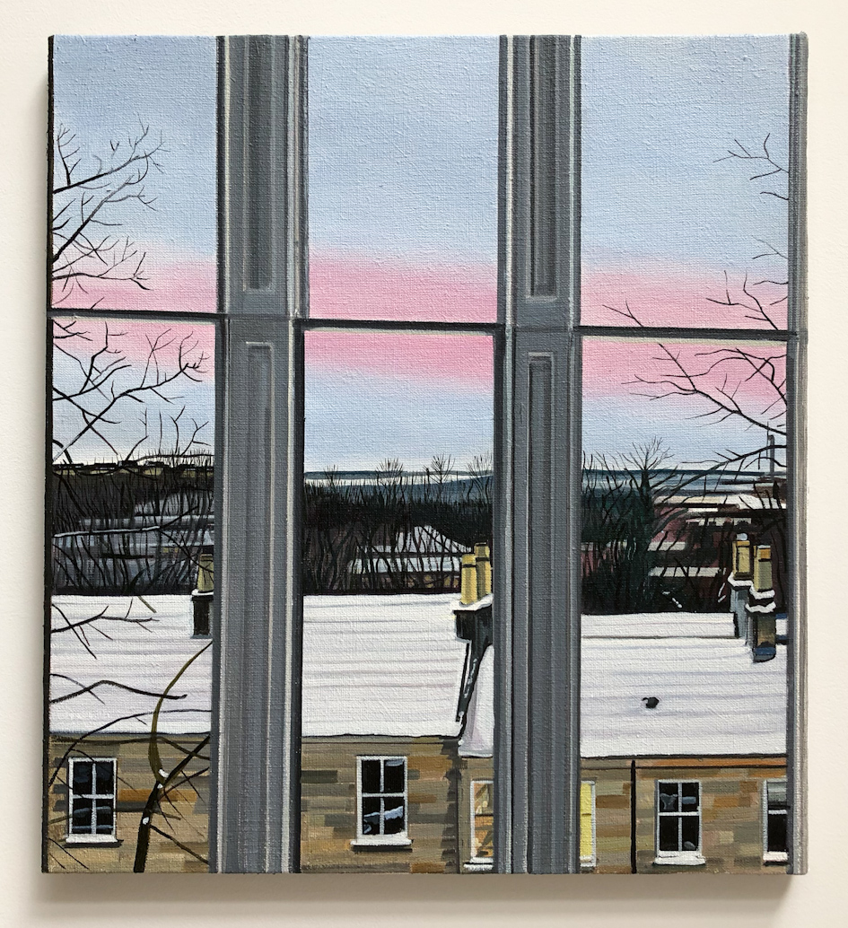 Wilton St. Window 10 , March 2018, 22 x 20 inches, acrylic on linen.